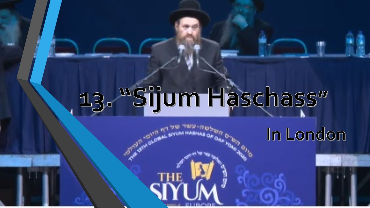 Sijum haschass in london